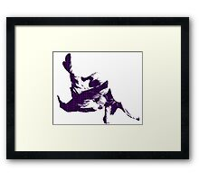 Judo Throw in Gi 3 purple  Framed Print