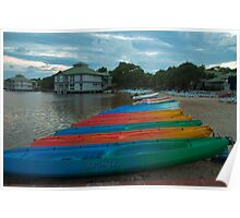 Lagoon & Boats at Dusk - Twin Waters Poster
