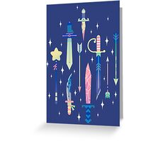 Magical Weapons Greeting Card