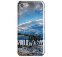 Storm brewing over Kinnegar jetty iPhone Case/Skin