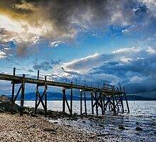 Storm brewing over Kinnegar jetty by timgaston