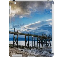 Storm brewing over Kinnegar jetty iPad Case/Skin