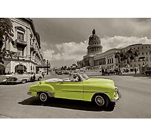 Yellow Convertable  Photographic Print