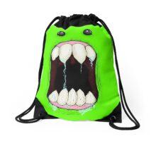 Beware of the Monster! Drawstring Bag