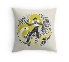 The Serpent Knight Throw Pillow