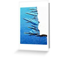 Freezing in Process Greeting Card