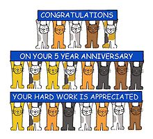 One year work anniversary congratulations. by KateTaylor