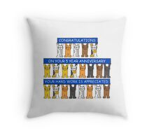 One year work anniversary congratulations. Throw Pillow