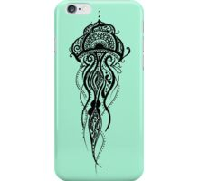 Mint Green Jellyfish Mandala iPhone Case/Skin
