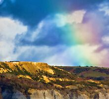 Rainbow Over Golden Cap by Susie Peek
