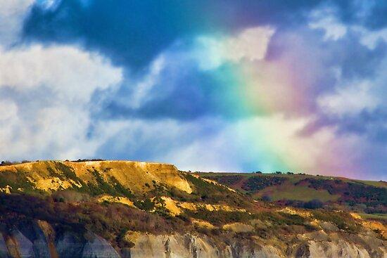 Rainbow Over Golden Cap by Susie Peek