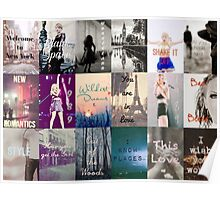 Taylor Swift 1989 Song Titles  Poster