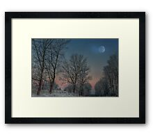 Christmas way Framed Print