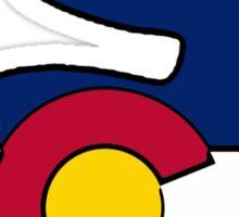 Colorado flag rabbit Sticker