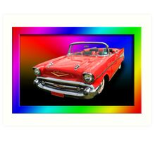Psychedelic Chevy Art Print