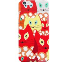 red cats iPhone Case/Skin