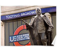 King Edward VII's Statue, Tooting Broadway Poster