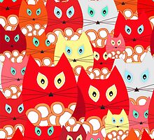 red cats by tsafonova1
