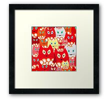 red cats Framed Print