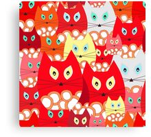 red cats Canvas Print