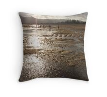 Late afternoon on tidal flats, Lombok Throw Pillow