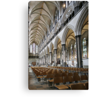 Salisbury Cathedral Nave Canvas Print