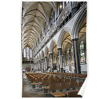 Salisbury Cathedral Nave Poster