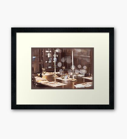 Antique Table Collage Framed Print