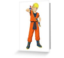 Naruto with Sangoku's clothes Greeting Card