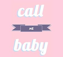 EXO CALL ME BABY TYPOGRAPHY PASTEL by peachy peachy