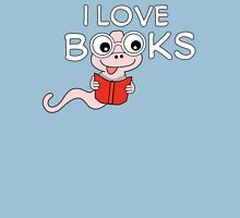 I Love Books Bookworm T Shirt Womens Fitted T-Shirt