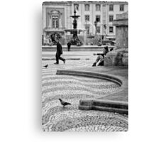 Streets are theaters Canvas Print
