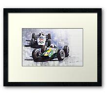 Lotus vs Honda Mexican GP 1965 Framed Print