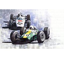 Lotus vs Honda Mexican GP 1965 Photographic Print