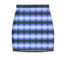 Blue light spectrum patterns Mini Skirt