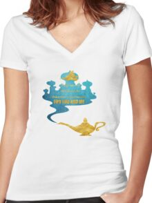 A Whole New World - Aladdin Women's Fitted V-Neck T-Shirt