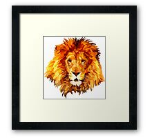 Low Poly Lion Framed Print