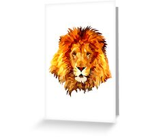 Low Poly Lion Greeting Card
