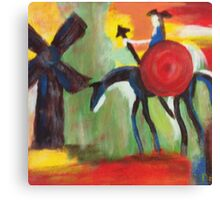 Don Quijote and the Windmill Canvas Print