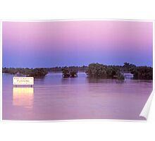 Cooper Creek in flood, Windorah, western Queensland Poster