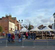 The town square, Ludlow, UK by artfulvistas