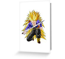 Trunks SSJ3 Greeting Card