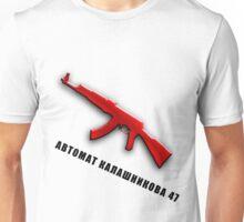 AK-47 (Russian Text) Unisex T-Shirt