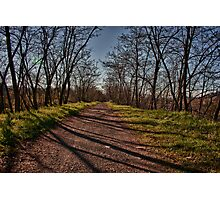 Light Path,Secchia River,Sassuolo,Italy. Photographic Print