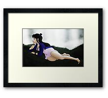 Maya Fey by the Waterfall Framed Print