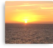Sunset in the Caribbean  Canvas Print