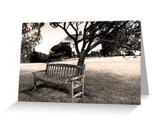 Bench, Week St Mary Village Green, Cornwall, UK Greeting Card