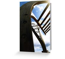 Barcelona Wooden Sails Greeting Card