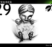 November 29th - Over the fence by 365 Notepads -  School of Faces