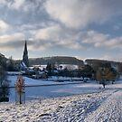 Winter in Edensor  by Steven  Lee